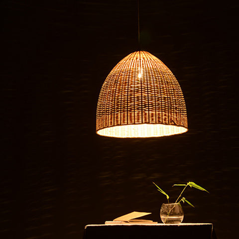 modern Wood bamboo ceiling lamp