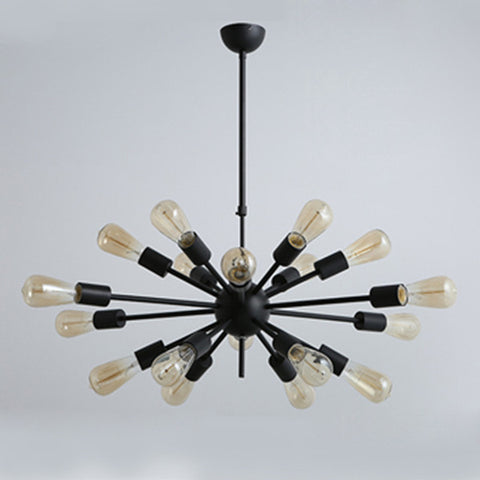 Black large industrial vintage ceiling lamp