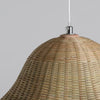 floral bamboo and wood hanging lamp