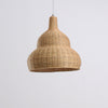 unique shape bamboo and wood lamp interior design