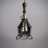 industrial ceiling cage hanging light bathroom lighting