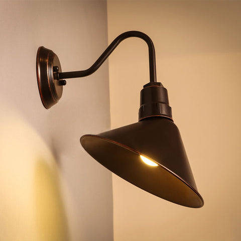 industrial gooseneck sign wall lamp