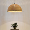 large bamboo and wood ceiling lamp home decor