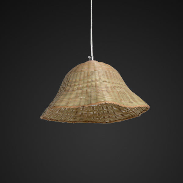 floral bamboo pendant lamp