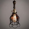 vintage industrial ceiling cage Edison light fittings