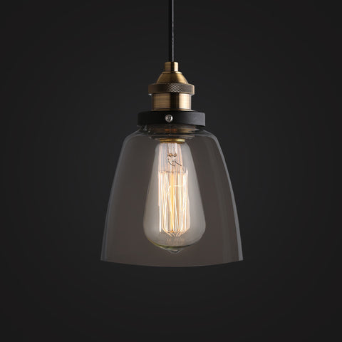 industrial factory glass pendant lamp dining room lighting fixture