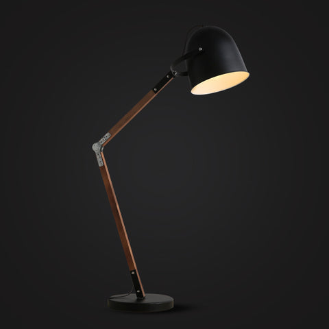 black modern vintage floor lamp