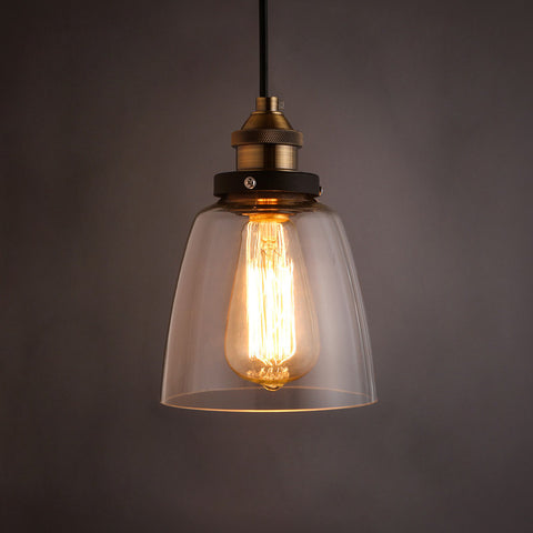 industrial retro glass hanging lamp kitchen pendants