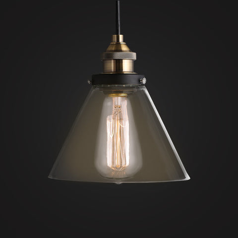 vintage glass lampshade edison pendant lamp