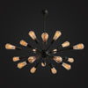 Black large industrial vintage Chandelier