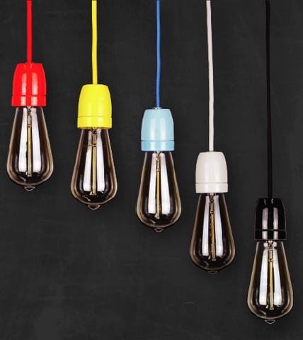 colorful porcelain edison lamps modern lighting