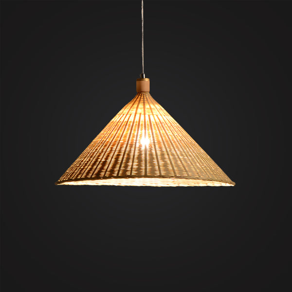 modern bamboo wood hanging lamp