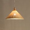 modern bamboo wood pendant lighting home decor
