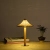 mushroom bamboo wood tabe lighting modern home decor