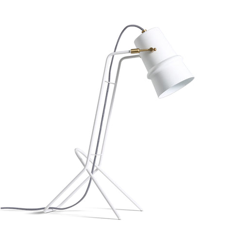 white color modern Scandinavian table lamp home decor