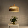 large bowl shape modern bamboo wood pendant lighting home decor