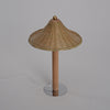 mushroom bamboo wood table lamp