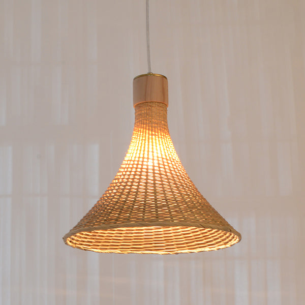 Uitgelezene Small Handcrafted Hat Shape Bamboo Hanging Lamp, Modern Design XW-66