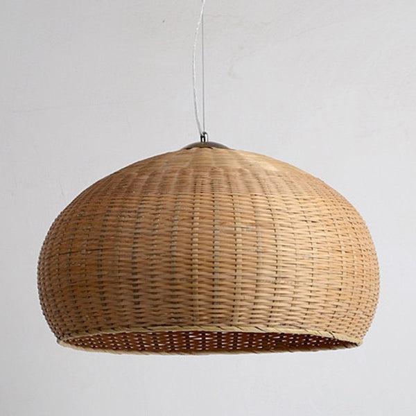 large bamboo wood ceiling lamp