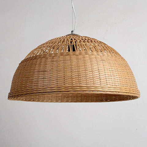 large bamboo wood pendants