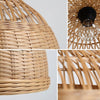 bamboo and wood hanging lights