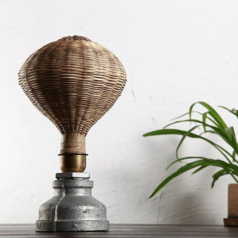 Modern Bamboo Wood Desk Lamp