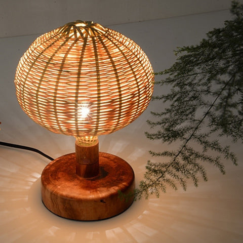 modern decorative wood and bamboo table lamp
