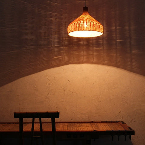 bamboo wood ceiling lamp