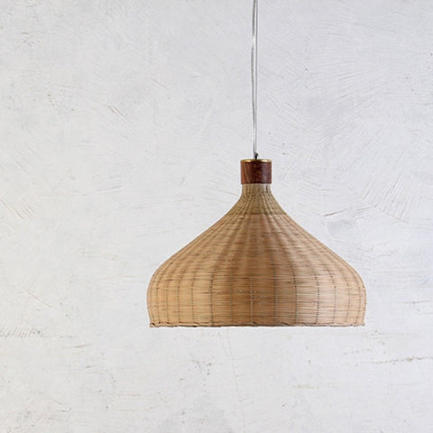 bamboo wood pendant lamp