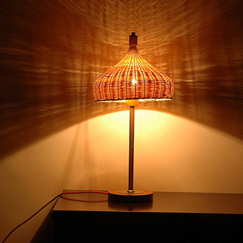 wood and bamboo modern table lamp