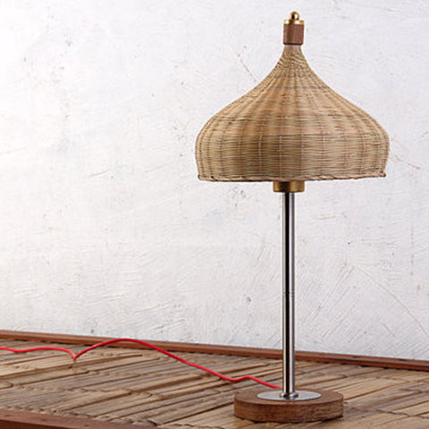 wood and bamboo modern desk lamp