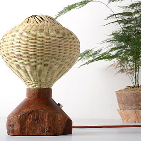 Modern Wood Bamboo Table Lamp