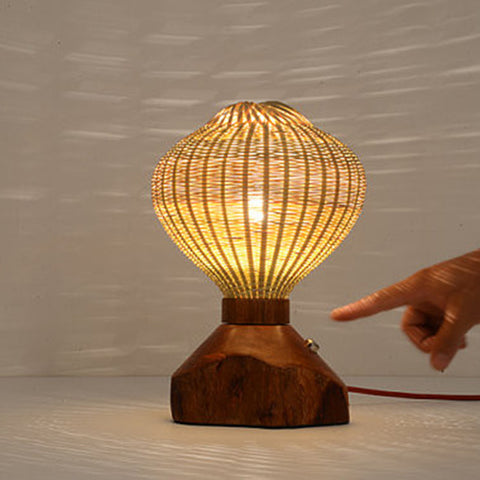 Modern Wood Bamboo Desk Lamp