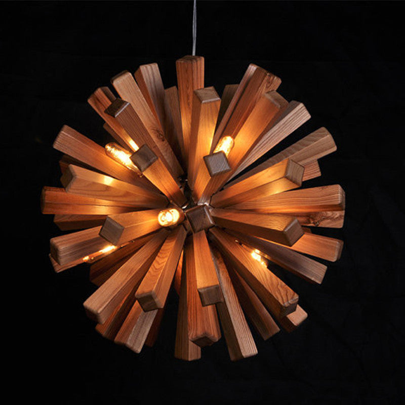 Flora Ceiling Lamp Modern Ash Wood Pendant Light Design