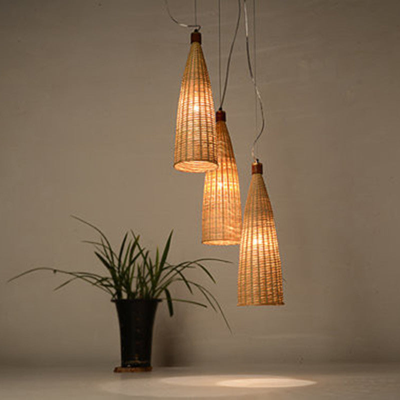 Hunter Large Pendant Lamp Bamboo Amp Wood Ceiling Light