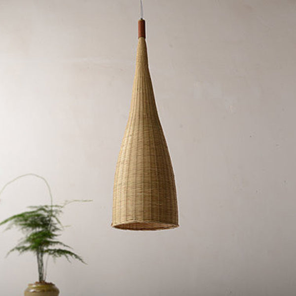 large bamboo wood pendant lamp