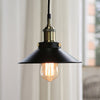 black warehouse vintage pendant light