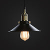 black factory vintage pendant light