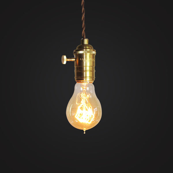 edison bulb vintage industrial brass hanging lamp