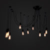 black industrial Chandelier pendant lamp