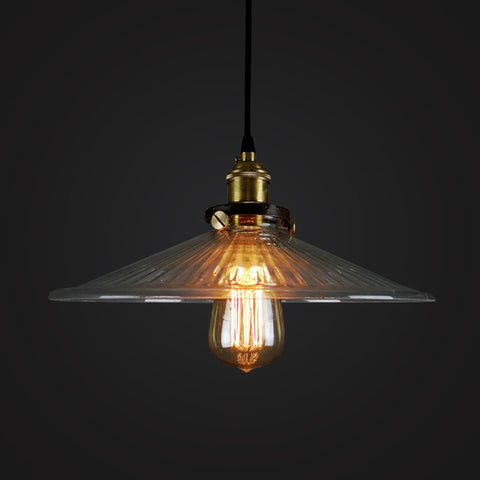 vintage industrial glass hanging lamp pendant light glass