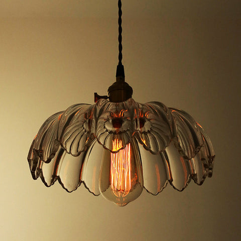 vintage floral glass lampshade pendant hanging lamp