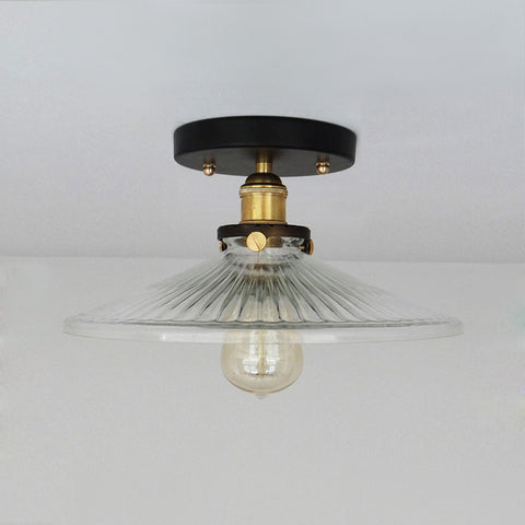 factory Glass Lampshade Mounted Light Fixture