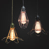 vintage industrial wire cage pendant lamp