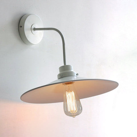 industrial modern white wall lamp