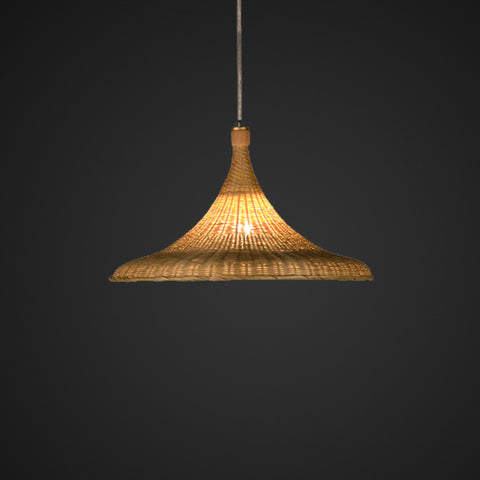 nordic bamboo and wood hanging lamp
