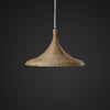 nordic bamboo and wood ceiling lamp