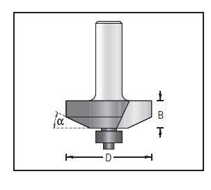 Dimar 123R8-41 Raised Panel Bit with Ball Bearing Guide, 2 Flutes, 25 degree angle