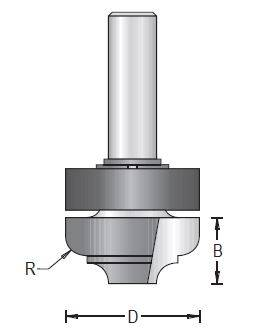 Dimar 131RFX-XX Series Panelling Groover with Upper Ball Bearing, Flat Bottom, 2 Flutes