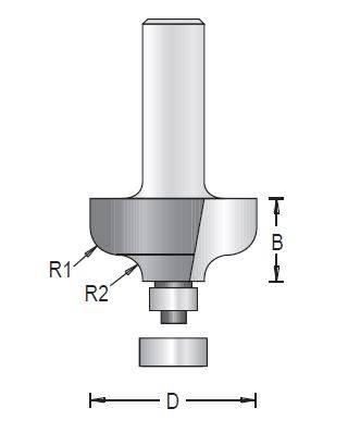 Dimar 138RXX-XX Series Panelling Bits with Ball Bearing Guide, 2 Flutes